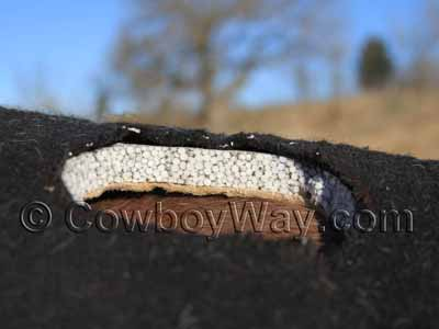 Air Ride saddle pad with a section cut out