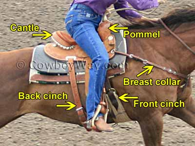 A barrel racing saddle