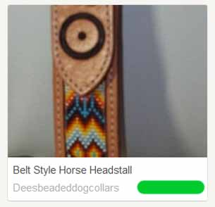 Belt-style beaded headstall