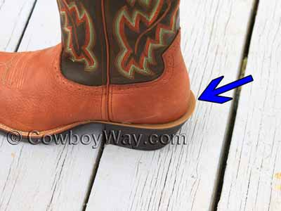 Cowboy boots with a spur ledge