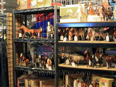 A collection of Breyer model horses for sale
