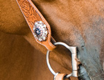 A beautiful bridle concho