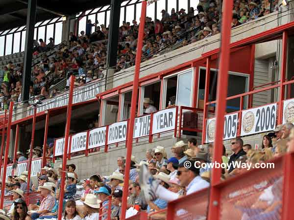 The crowd at the Cheyenne Frontier Days Rodeo
