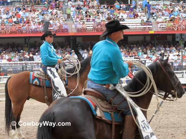 Pickup men at the Cheyenne Frontier Days  Rodeo
