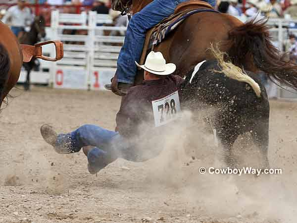 Todd Maughan ends his steer wrestling run with a qualified time
