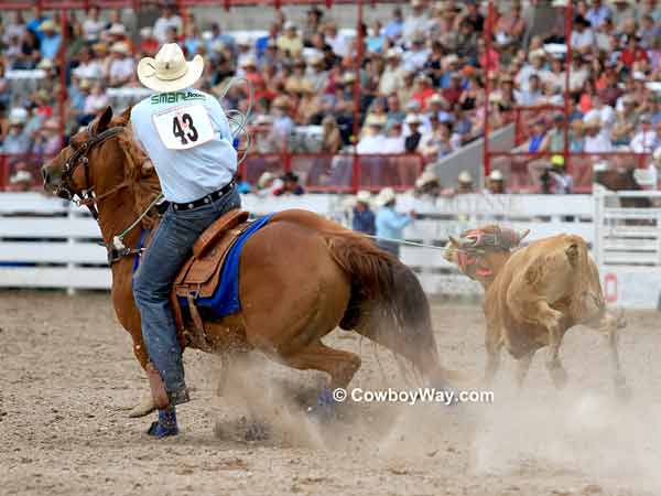 Team ropers Joel Bach and Allen Bach