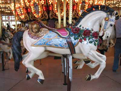 A carousel horse in Roger Williams Park