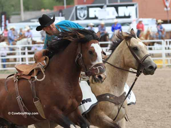 Cheyenne Frontier Days Rodeo saddle bronc riding
