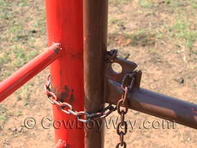 A gate with a chain latch