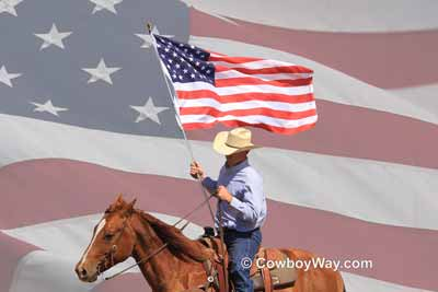 United States flag etiquette at a rodeo