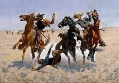 Frederic Remington's 'Aiding A Comrade' painting
