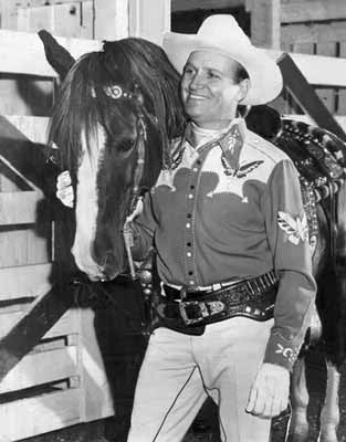 Gene Autry and his horse Champion