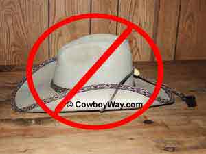 Cowboy hat care: Don't set your cowboy hat on its brim