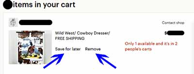 Cowboy Etsy shopping cart
