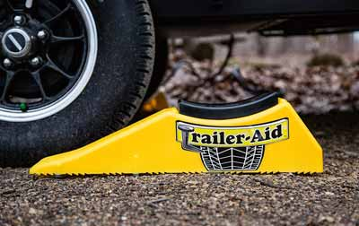 A trailer changing ramp to make changing trailer tires easier
