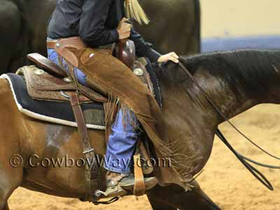 Cutting saddle being used