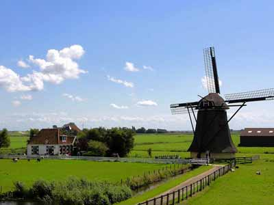 A large windmill for milling grain