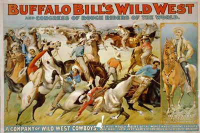 Buffalo Bill Wild West Show rodeo poster