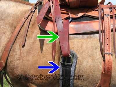 A Western cinch and latigo