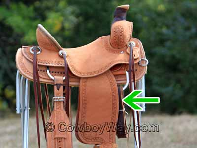 A brand new Western saddle without a cinch